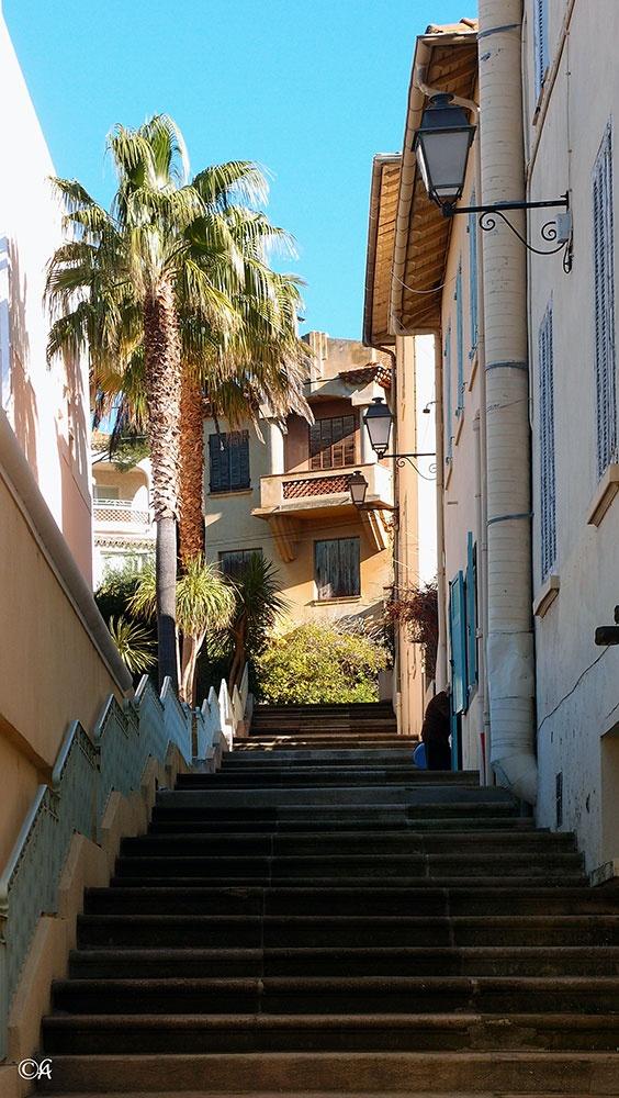 France, Ste Maxime  rue centre ville  By alain Chantelat