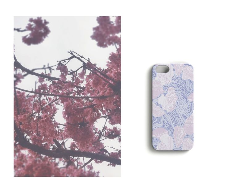 Cherryblossom //Jellyfish Mess iPhone case designed by Anna Salmi.