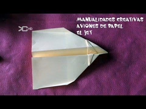 Avión de papel modelo jet que vuela 200 metros - YouTube