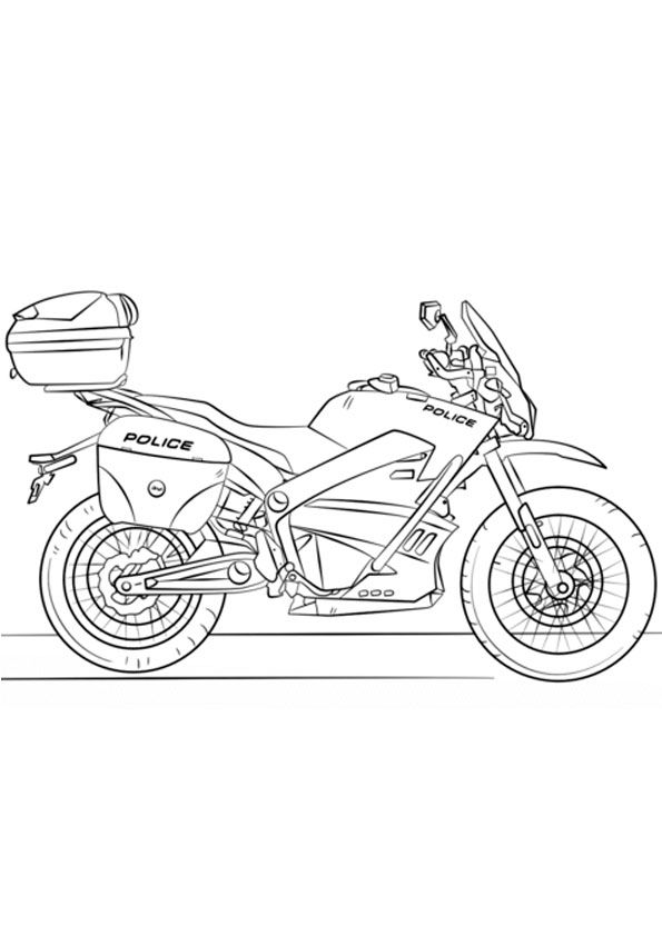 Police Motorcycle Coloring Page Coloring Pages Coloring Pages For Kids Color