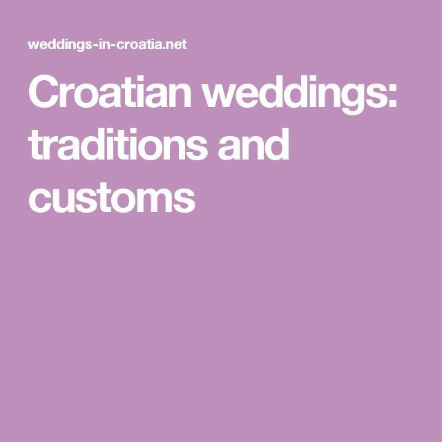 Croatian weddings: traditions and customs