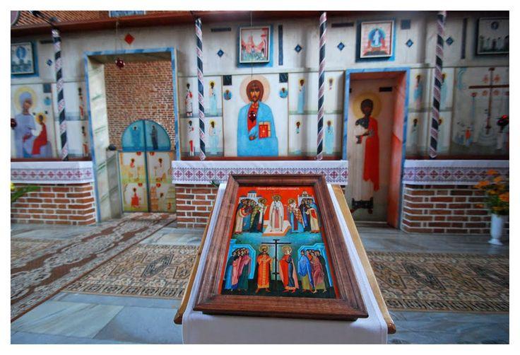 Iconostasis by Jerzy Nowosielski. The Elevation of the Cross Ukrainian Greek Catholic church, Górowo Iławeckie