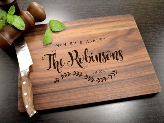 Custom Cutting Board – Engraved Cutting Board, Personalized Cutting Board, Wedding Gift, Housewarming Gift, Anniversary Gift, Engagement