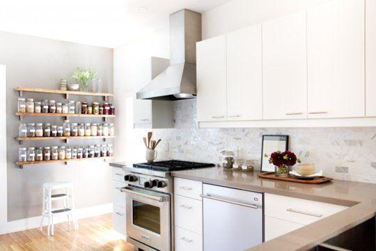 Kitchen Idea: Renovate with White Marble Subway Tiles