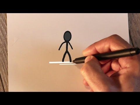 Animated Christmas Card Template - Stickman Holiday Card - YouTube