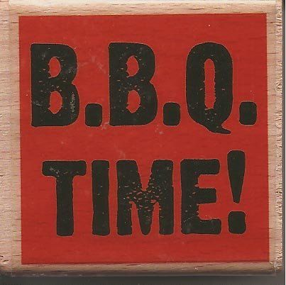 Studio G BBQ TIME Rubber Stamp by ScrappinTreasures on Etsy, $3.99