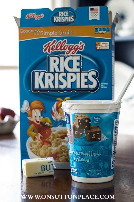 3 tweaks to the original recipe and you get the best and creamiest Rice Krispies Treats ever! #ricekrispiestreats