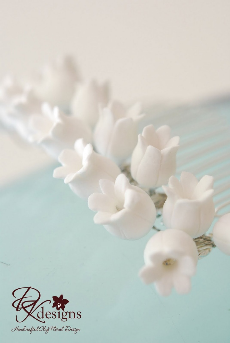 DK Designs: Lily of the Valley Hair Comb