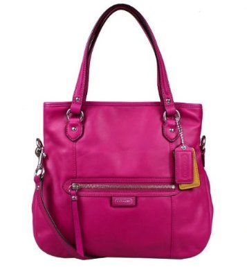 Coach 23901 Daisy Magenta Leather Mia Cross-body Shoulder Bag