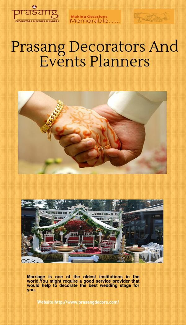 Marriage is one of the oldest institutions in the world.You might require a good service provider that would help to decorate the best wedding stage for you.For More information visit here http://www.prasangdecors.com/