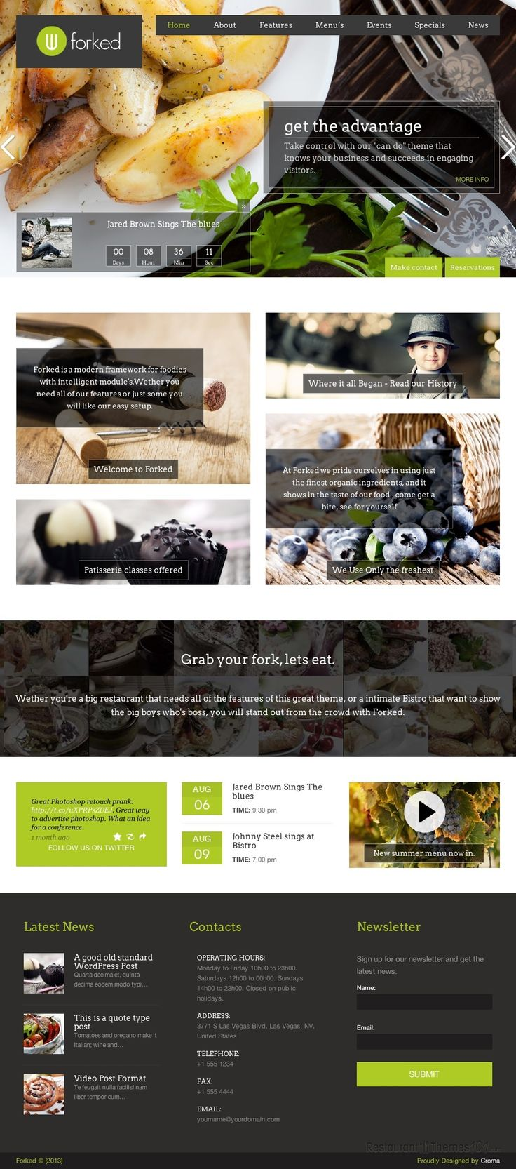 restaurant server cover letter%0A Forked  a WordPress restaurant theme by ThemeForest