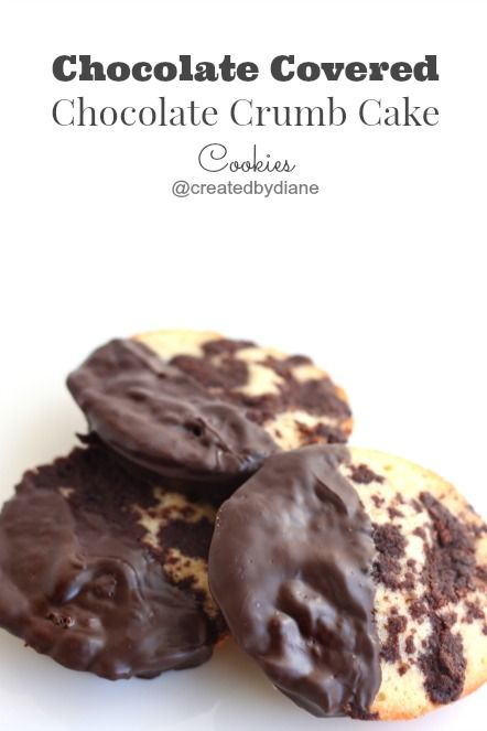 Chocolate Covered Chocolate Crumb Cake Cookies @createdbydiane