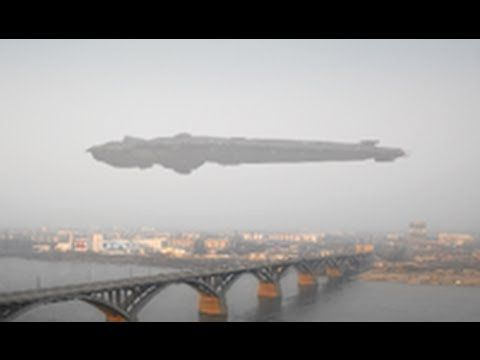 GIGANTIC UFO in Moscow Russia