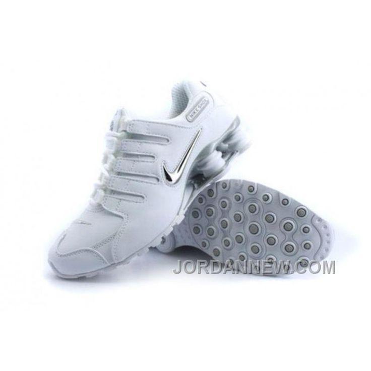 Men's Nike Shox NZ Shoes White/Silver/Grey Best