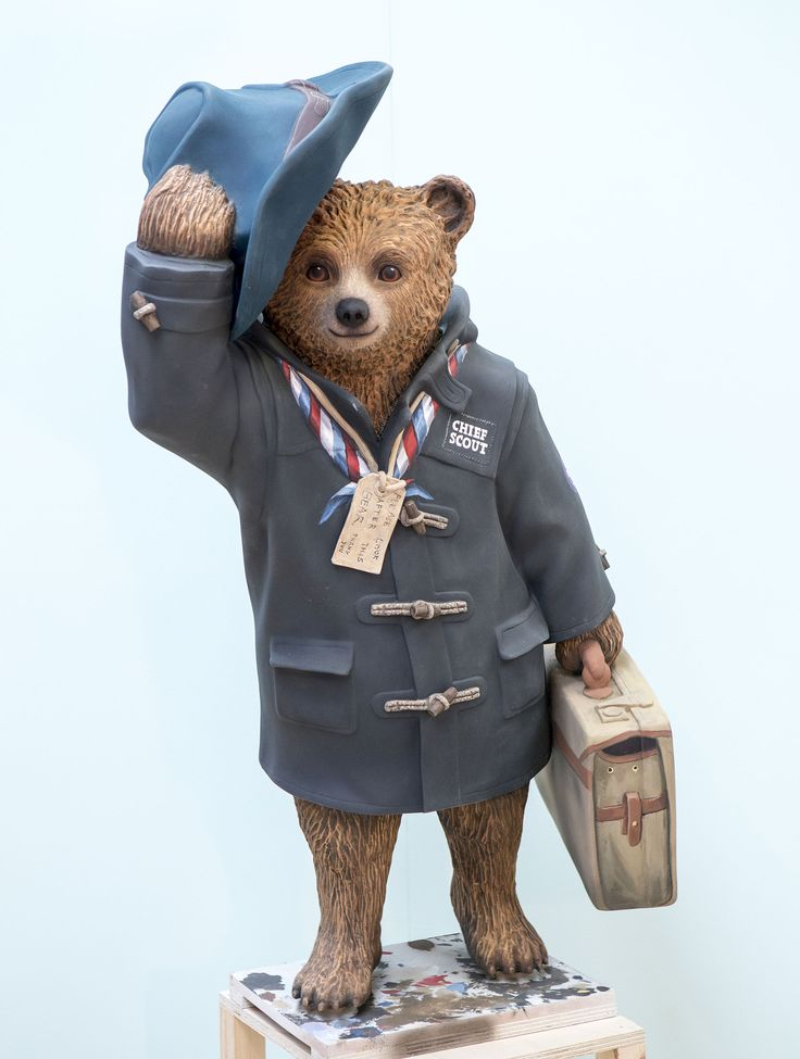 Why Paddington Bear Statues Have Taken Over London - Condé Nast Traveler  Chief Bear Man vs Wild star Bear Grylls made this adventurer bear, who greets visitors beginning their journeys at Heathrow Airport.