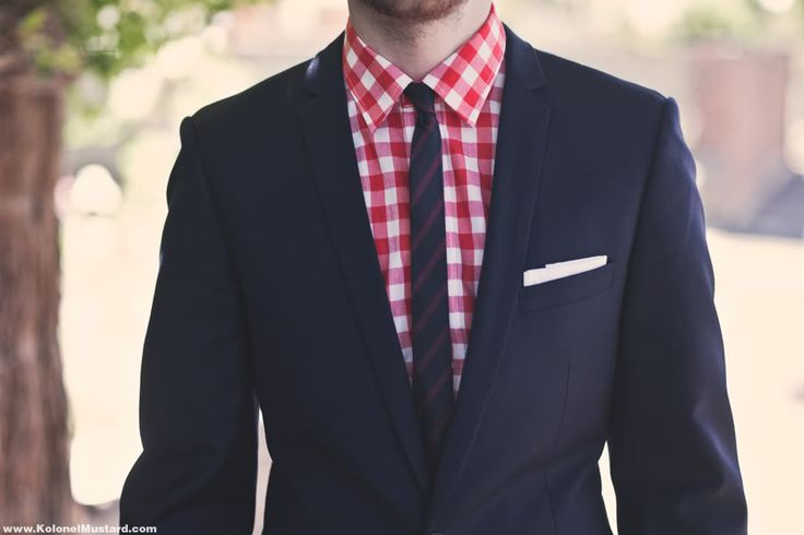 Love the red gingham shirt