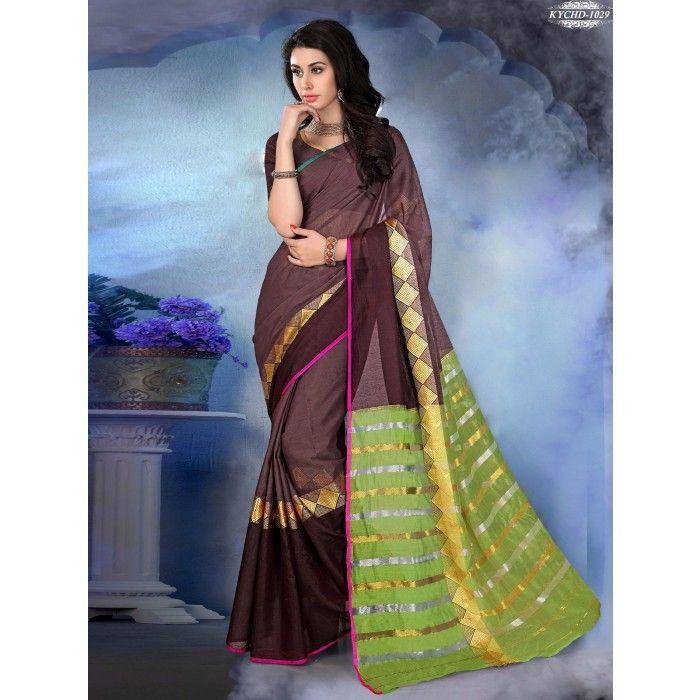 Chennai Express Cotton  mostly black Designer Sarees