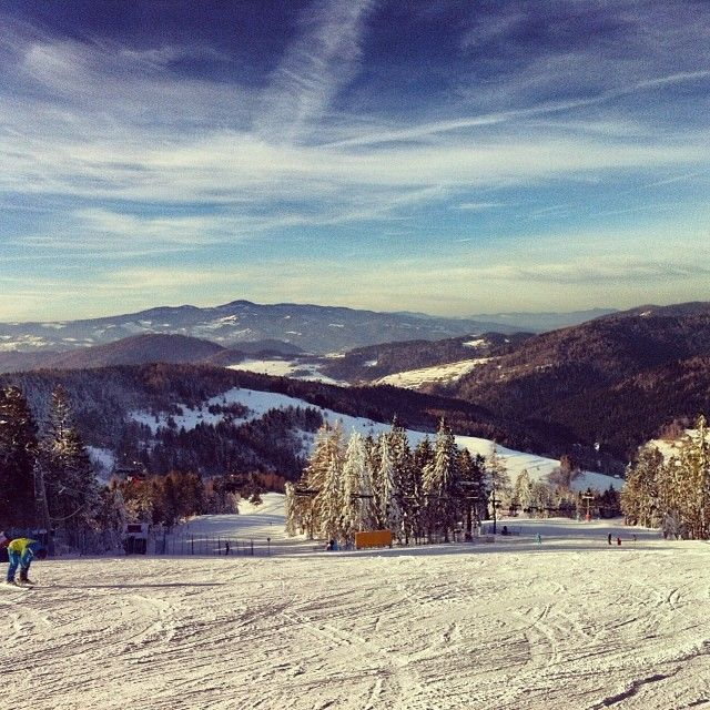 #mountains #poland #wierchomla #skiing #snow #sunnnyday