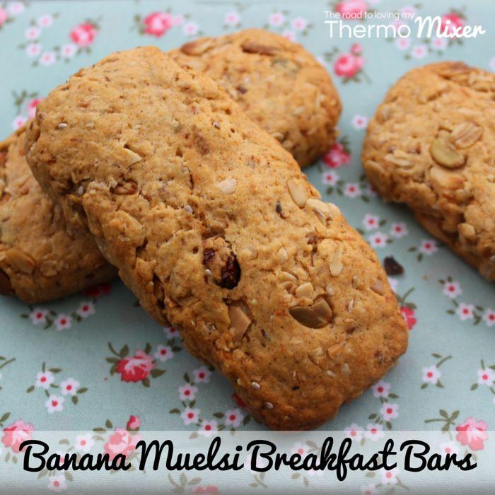 Banana Muesli Breakfast Bars - The Road to Loving My Thermo Mixer