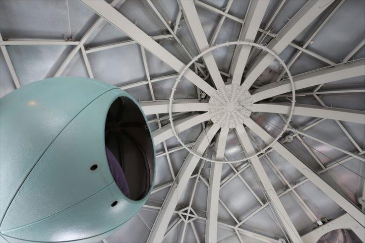 #Atomium - Kids'Sphere / Kinderbol / Sphère des Enfants. Dormitory. © www.atomium.be - SABAM - David Kens - Kapsule