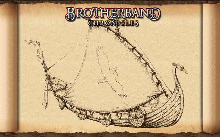 Dit is het schip de reiger waar hal en zijn broederband de zee bevaren. Deze boot heeft hun gered te ontsnappen van skandia ,hun thuisland. Deze boot hebben ze zelf gemaakt tijdens de broederbandspelen.