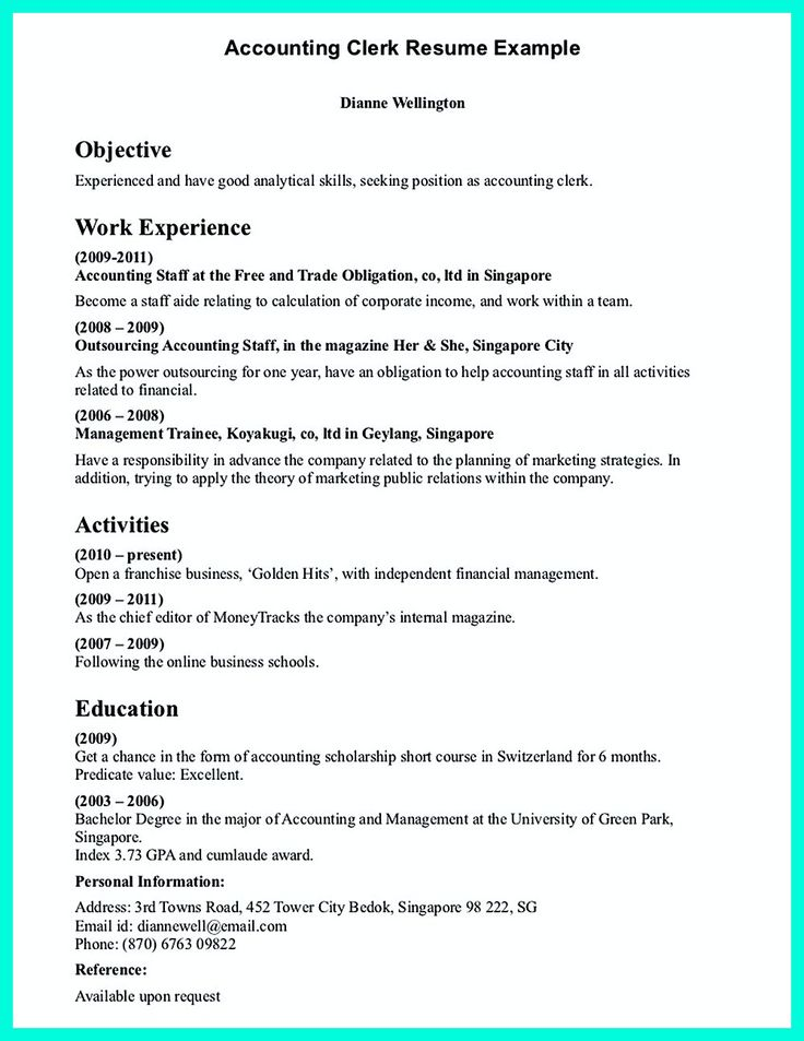 11 best Office Clerk images on Pinterest Career, Create your and - office resume examples