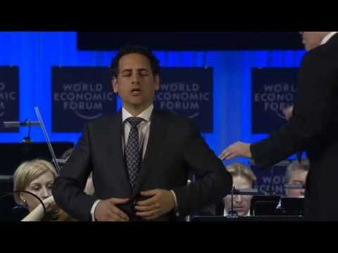 Juan Diego Florez - Una furtiva lagrima - World Economic Forum 2014