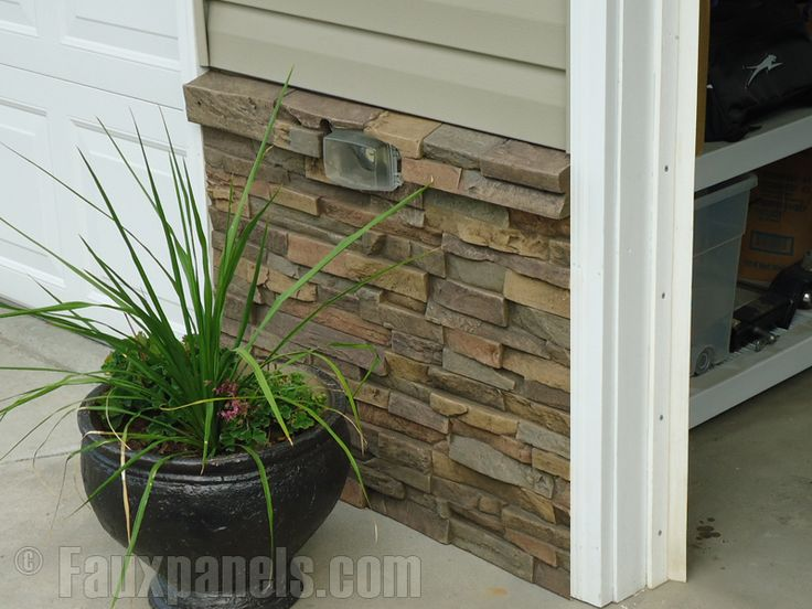 8 Best Images About House Foundation Stone Siding On Pinterest Faux Stone Siding Options And
