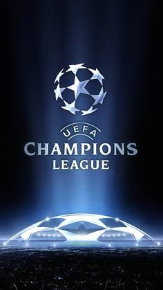 ↑↑TAP AND GET THE FREE APP! Sport UEFA Champions League Logo Navy Blue European Football Soccer Shining Stadium For Guys HD iPhone 6 plus Wallpaper #europeansoccer