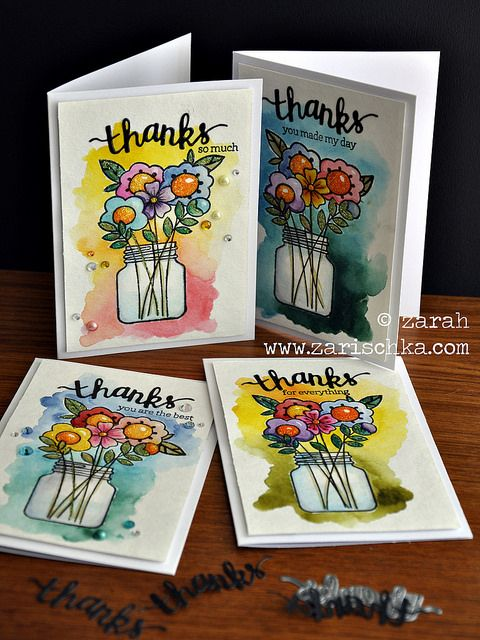 Thanks card set by Zarah - Paper Smooches