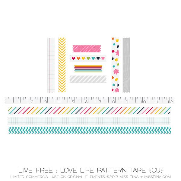 digital washi tape and borders - lots of inspiration and freebies!