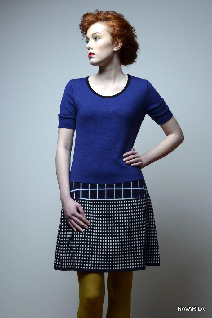 pestrobarevné retro šaty  Noki- geometrické vzory