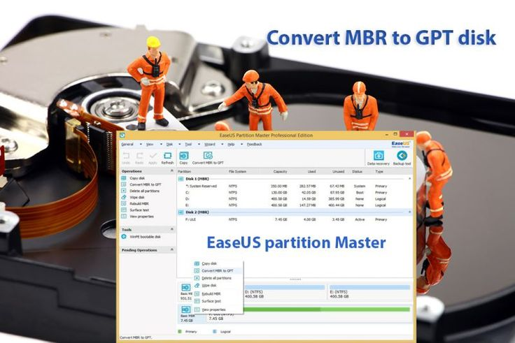 Advanced partition manager to convert MBR to GPT disk