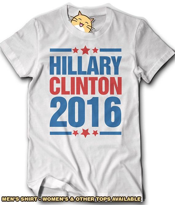Hillary Clinton 2016 Election Shirt Pro President Support Mens Gift Idea Womens Democrat Voting For Vote USA Politics Political Party