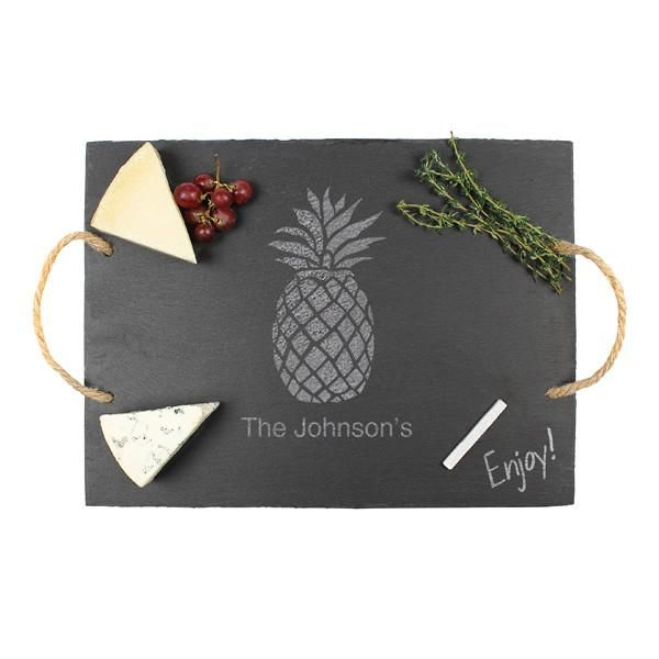 Personalized Pineapple Slate Serving Board
