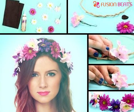 Love wearing maxi dress? Team it up with floral bands to get boho look. Make these D.I.Y floral bands by following these steps.