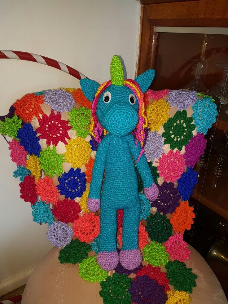 Unicorn #dirtygrannycrochet #crochet #crochettoy #crochetunicorn #unicorn #rainbow