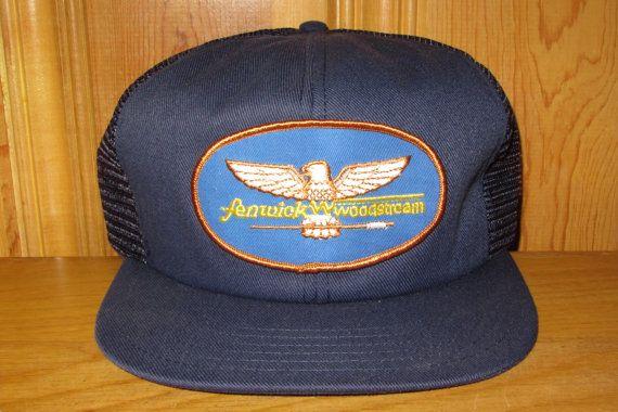 FENWICK WOODSTREAM Fishing Rods Promo Snapback Hat in Navy Blue at HatsForward