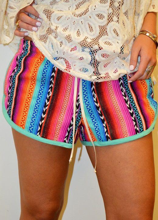 Fiesta Stripe Shorts | Judith March Bottoms from Wheelersfeed.com  http://www.wheelersfeed.com/fiesta-stripe-shorts-6849-prd1.htm