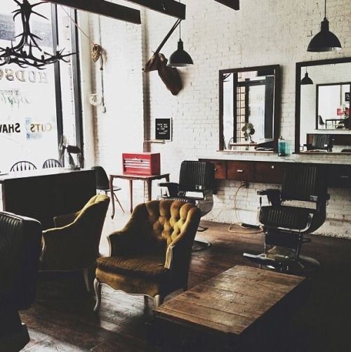 25 best ideas about old school barber shop on pinterest barber shop new shaving style and - Barber shop interior ...
