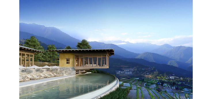 Lové entre les montagnes de l'Himalaya, le dernier né des Six Senses a prévu d'ouvrir ses portes en août 2017 au Bhoutan, l'une des destinations les plus désirables du moment. Focus.