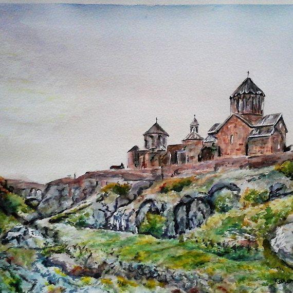 Original Painting Armenia Art Armenian Church Original