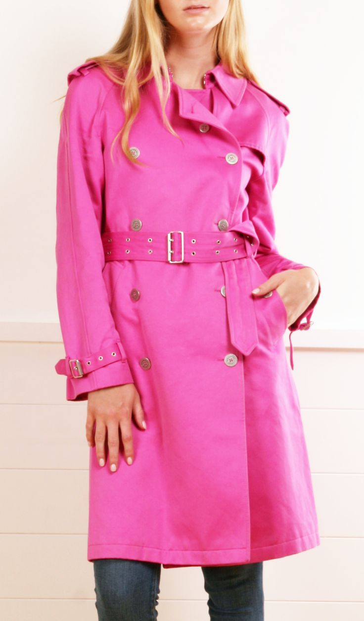 I love a pink coat - such an unexpected burst of color in the fall/winter. BURBERRY LONDON COAT