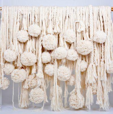 yarnPom Poms, Wall Hanging, Pompom, Yarns, Wedding Style, Stores Windows, Windows Display, Tassels, Windows Treatments