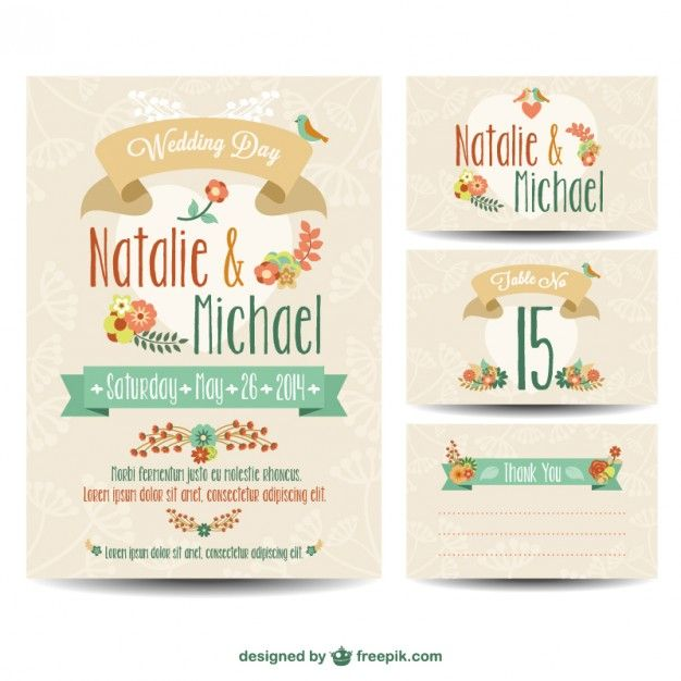 94 best Free Chick Vector images on Pinterest Banner, Banner - fresh wedding invitation vector templates free download