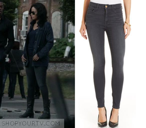 "Shots Fired: Season 1 Episode 7 Ashe's Grey Denim Jeans | Shop Your TV Ashe Akino (Sanaa Lathan) wears these dark grey denim jeans in this episode of Shots Fired, ""Content Of Their Character"".  It is the 7 For All Mankind High-Waist Skinny Ankle Jeans."