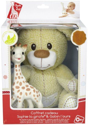 Cute Baby's Gift for the Holidays - Vulli Sophie Giraffe Teether with Teddy Bear - bedtimebaby.com