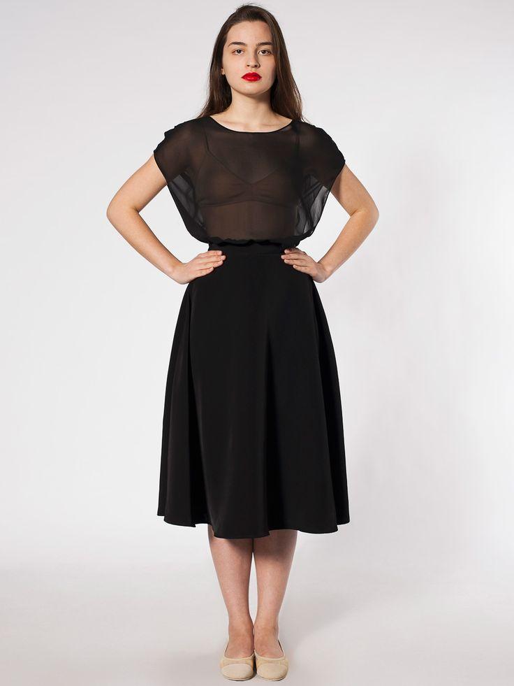Mid Length Circle Skirt Knee Length Women S Skirts