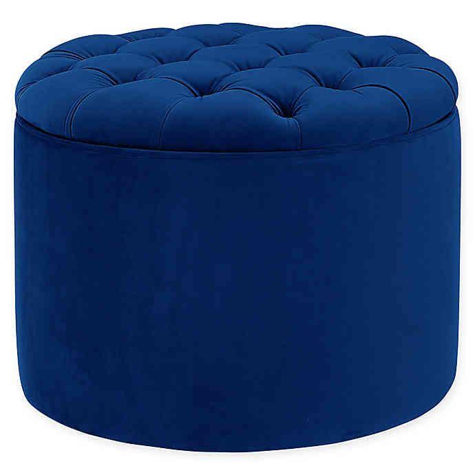 Tov Furniture Queen Velvet Storage Ottoman Bed Bath Beyond
