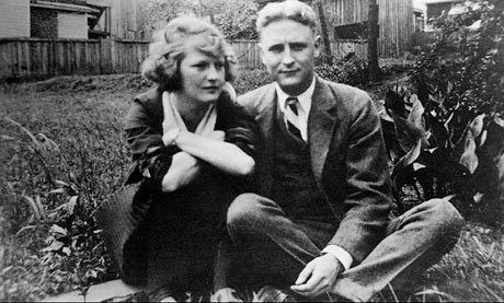 F. Scott Fitzgerald, and Zelda in the Sayre's front yard at the Princeton university library.